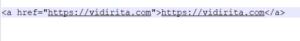 A linkek alap HTML kódja