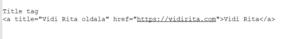 Szöveges link HTML kódja title tag-gel