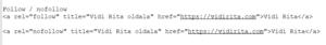 Szöveges link HTML kódja nofollow vagy follow attribútummal