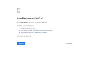 Nem elérhető weboldal - domain-ben lévő elütés